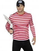 Vous aimerez aussi : T-shirt rayé rouge et blanc adulte