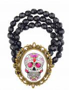 Bracelet gothique camée femme Dia de los muertos