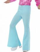 Pantalon disco turquoise homme