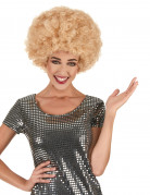 Perruque afro disco Blonde confort adulte