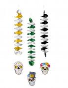 Vous aimerez aussi : 3 Décorations à suspendre squelette coloré 60 cm Dia de los muertos