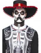Kit maquillage sequelette mexicain adulte Dia de los muertos