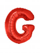 Ballon aluminium géant lettre G rouge 102 cm