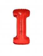 Ballon aluminium géant lettre I rouge 102 cm