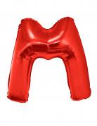 Ballon aluminium géant lettre M rouge 102 cm