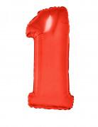 Ballon aluminium géant chiffre 1 rouge 102 cm
