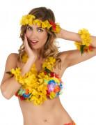 Vous aimerez aussi : Set Hawaï jaune floral adulte