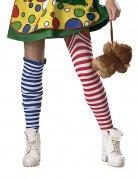 Chaussettes à rayures de clown multicolore