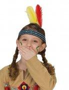 Bandeau indien avec plumes enfant
