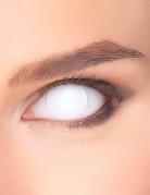 Lentilles fantaisie œil blanc opaque 3 mois adulte