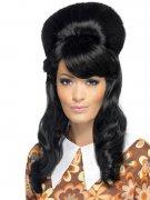 Perruque longue glamour années 70 noire femme