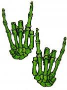 Vous aimerez aussi : Lot de 2 patchs mains vertes squelettes cornes
