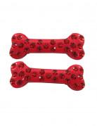 Vous aimerez aussi : 2 barrettes cheveux os strass rouge 6 cm