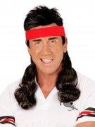 Vous aimerez aussi : Bandeau postiche mulet années 80 noir-rouge