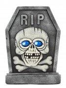 Vous aimerez aussi : Pierre tombale squelette RIP grise et bleue 42x58cm