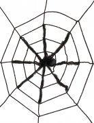 Toile avec araignée noire géante 130 cm