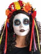 Couronne de fleur multicolore Dia de los Muertos