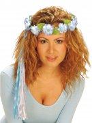Anneau fleur multicolore pour cheveux pour fée hippie Elfe