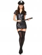 Déguisement policière sexy vinyle noir femme