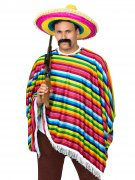Déguisement mexicain multicolore adulte