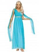 Déguisement déesse antique bleu femme