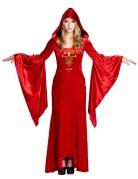 Déguisement robe médiévale rouge femme