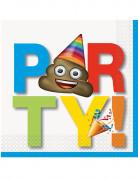 16 Serviettes en papier Emoji ™ Party ! 33 x 33 cm