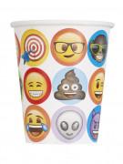 8 Gobelets en carton Emoji™ 270 ml