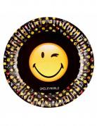 8 Assiettes en carton 23 cm Smiley Emoticons™
