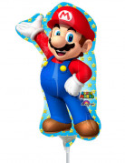 Ballon aluminium gonflé Super Mario™ 20 x 30 cm