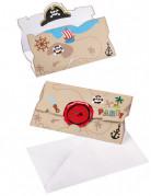 Vous aimerez aussi : 8 Invitations et enveloppes Pirate