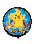 Ballon aluminium rond Pokémon Core™ 43 cm