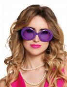 Lunettes disco violettes adulte