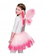 Ailes et tutu rose pastel papillon fille