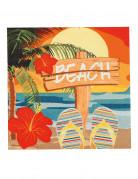 12 Serviettes en papier Beach party 33 X 33 cm