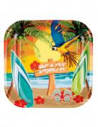 6 Assiettes Beach party 23 cm