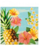 12 Serviettes Hawaii party 33 X 33 cm