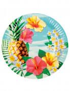 Vous aimerez aussi : 6 Assiettes en carton Hawaii party 23 cm