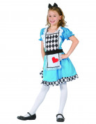 Déguisement Alice de coeur fille