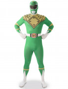 Déguisement seconde peau Power Rangers™ vert homme