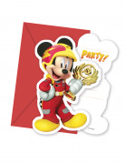 6 Cartes d'invitations + enveloppes Mickey & Donald Racing ™