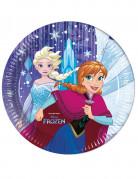 8 Assiettes en carton La Reine des Neiges™ Frozen ™ 23 cm