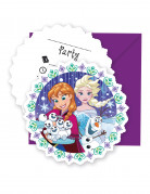 6 Invitations + enveloppes La Reine des Neiges Frozen ™