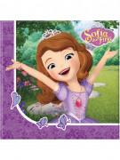 20 Serviettes en papier 33x33cm Princesse Sofia et la licorne ™