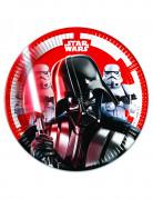 8 petites assiettes en carton Star Wars Final Battle™ 20 cm