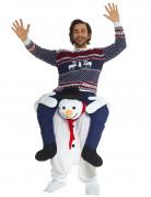 Déguisement homme à dos de bonhomme de neige adulte Noël