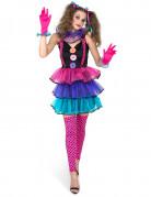 D�guisement clown du carnaval femme
