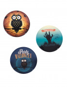 3 Badges vintage 6 cm Halloween