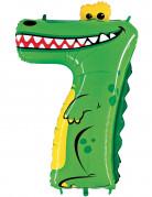 Ballon aluminium géant chiffre 7 crocodile 1 mètre