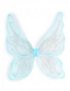 Ailes papillon bleues avec paillettes argentées pour fille